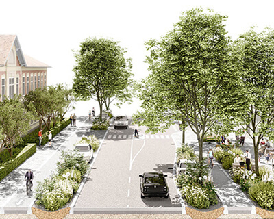 Wiener Straße in Mödling Visualisierung